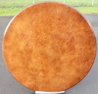 Round Walnut Pedestal Circular Dining Table - SOLD